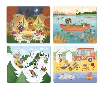 Holidays Wooden Puzzles 6, 9, 12, 16pc