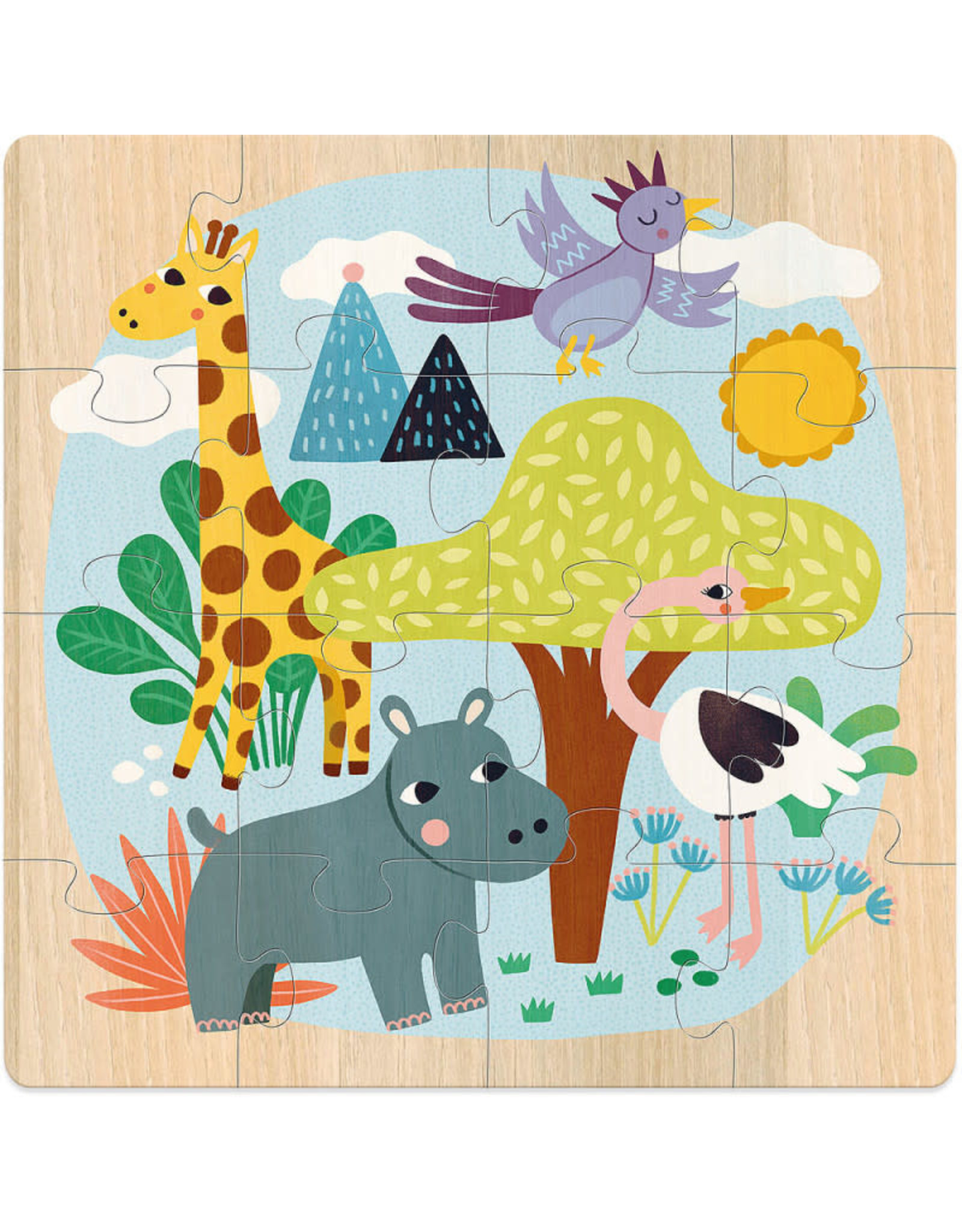 Vilac Animals of the World 3 x 16pc Wooden Puzzles