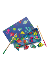 Djeco Wooden Magnetic Fishing Colour Game