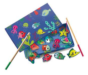 Wooden Magnetic Fishing Colour Game