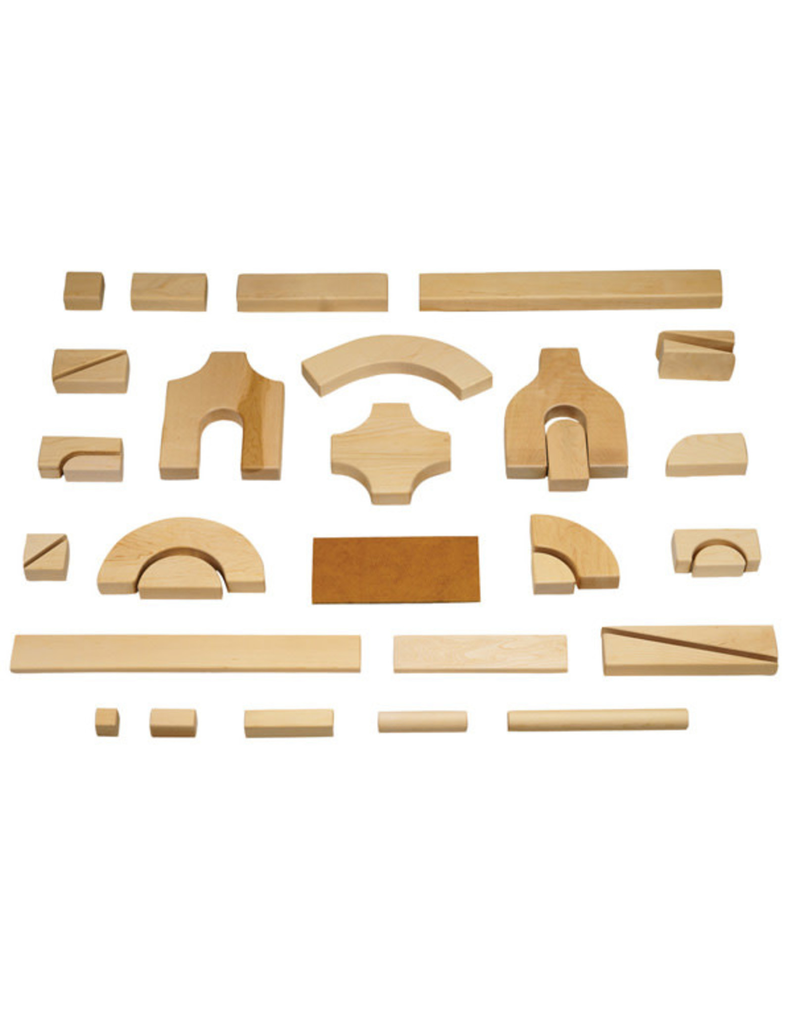 Jonti Craft Jonti Craft Unit Blocks Starter Set (86pc, 14 shapes)