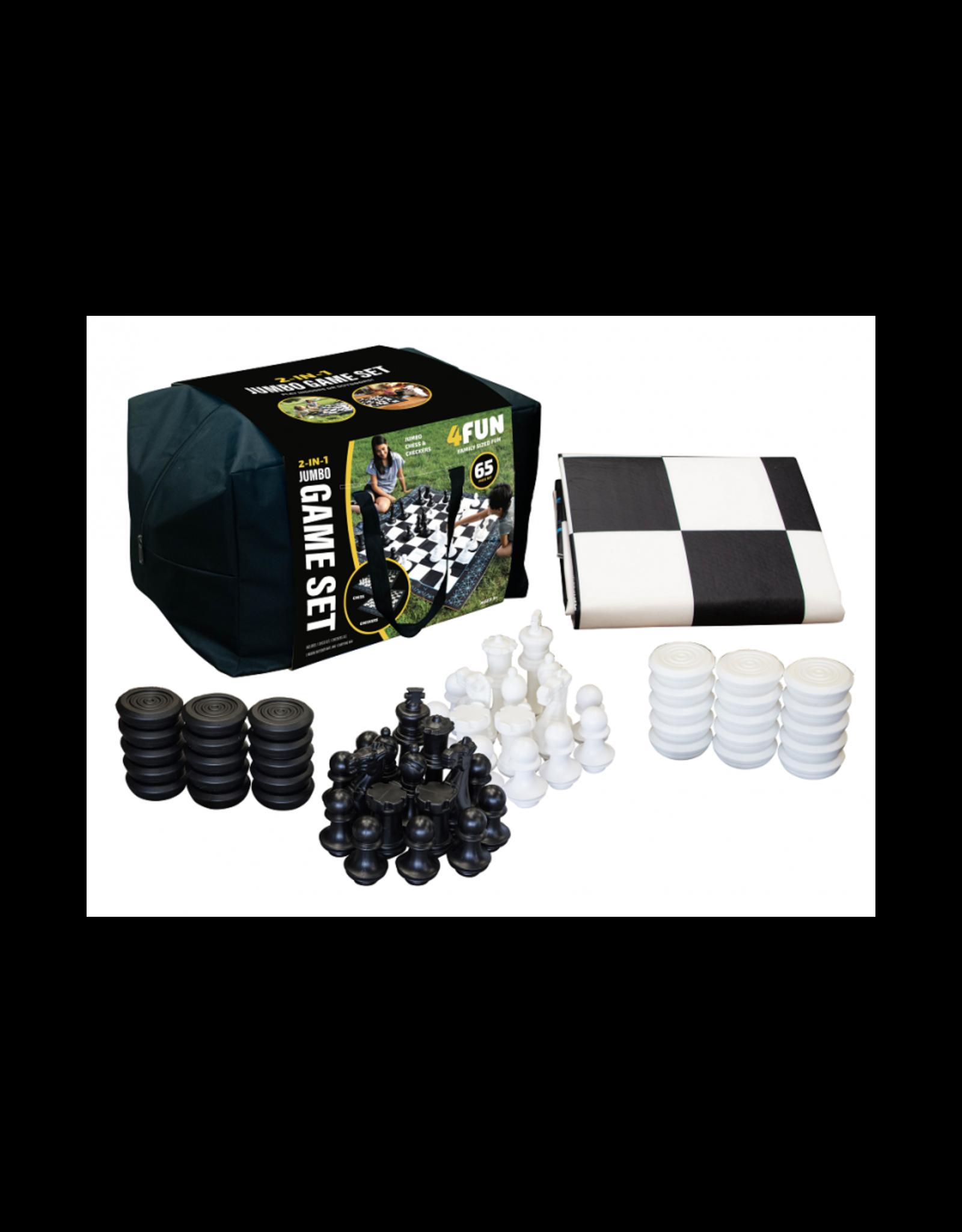 4FUN 2in1 Jumbo Chess and Checkers Set