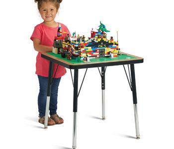 "Jonti-Craft® Adjustable Building Table Traditional Brick Compatible 15-24""H"