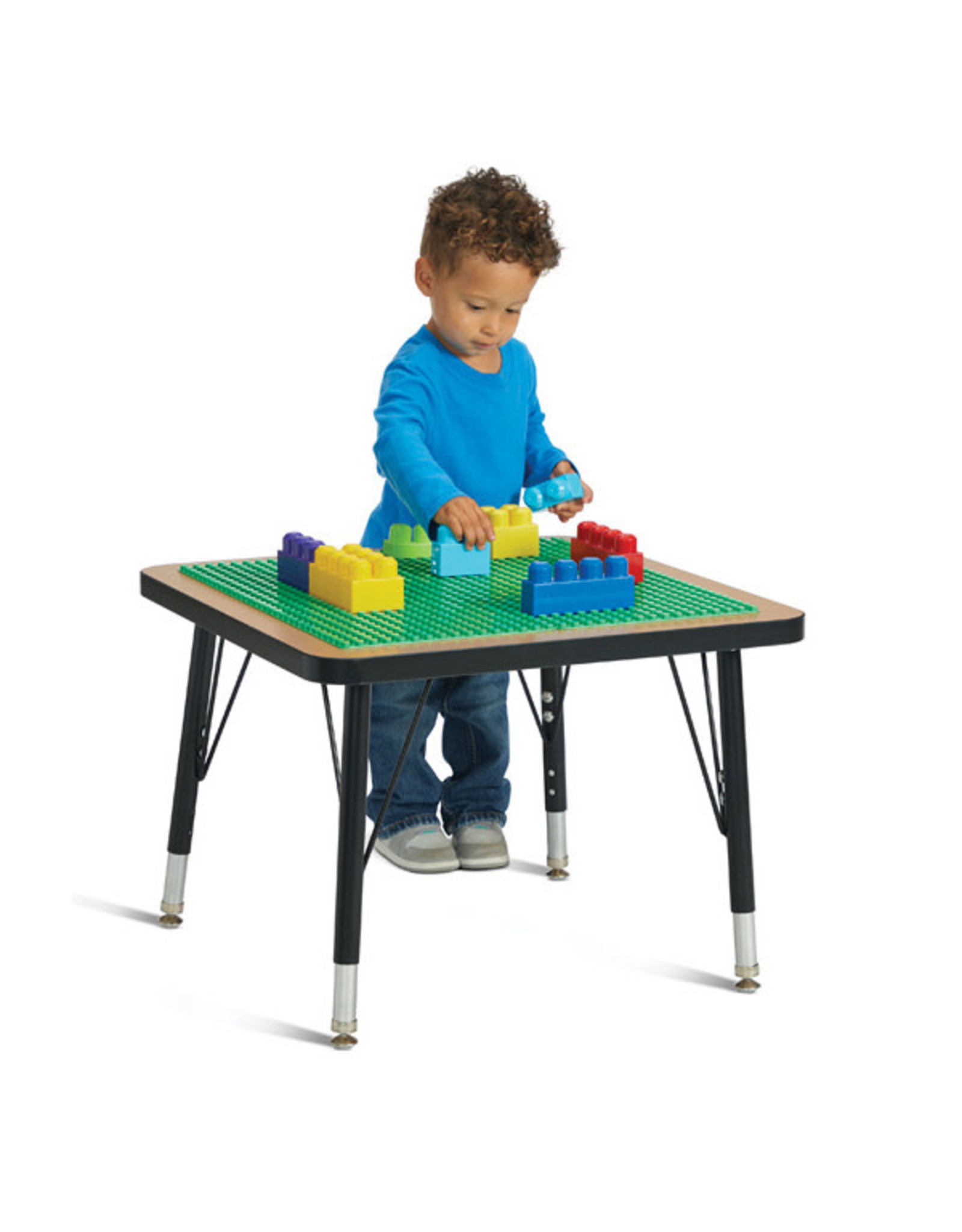 "Jonti Craft Jonti-Craft® Adjustable Building Table Preschool Brick Compatible 15-24""H"