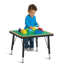 "Jonti Craft Jonti-Craft® Adjustable Building Table Preschool Brick Compatible 15-24""H"