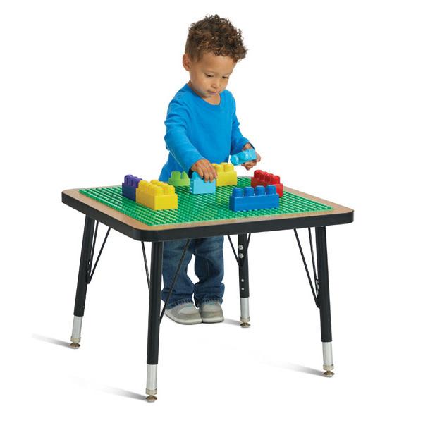 "Jonti-Craft® Adjustable Building Table Preschool Brick Compatible 15-24""H"