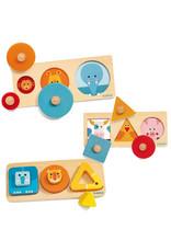 Djeco Very Basic 3pc Puzzle Assortment