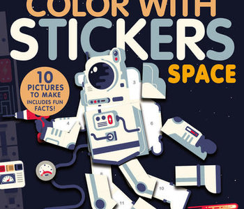 Color with Stickers Space