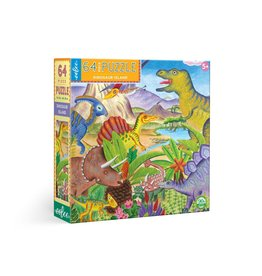 eeBoo Dinosaur Island 64pc Puzzle