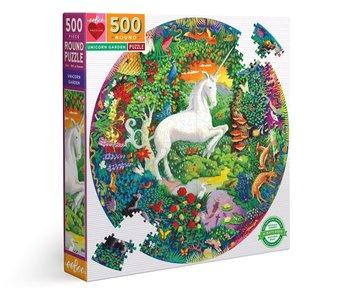 Unicorn Garden 500pc Round Puzzle