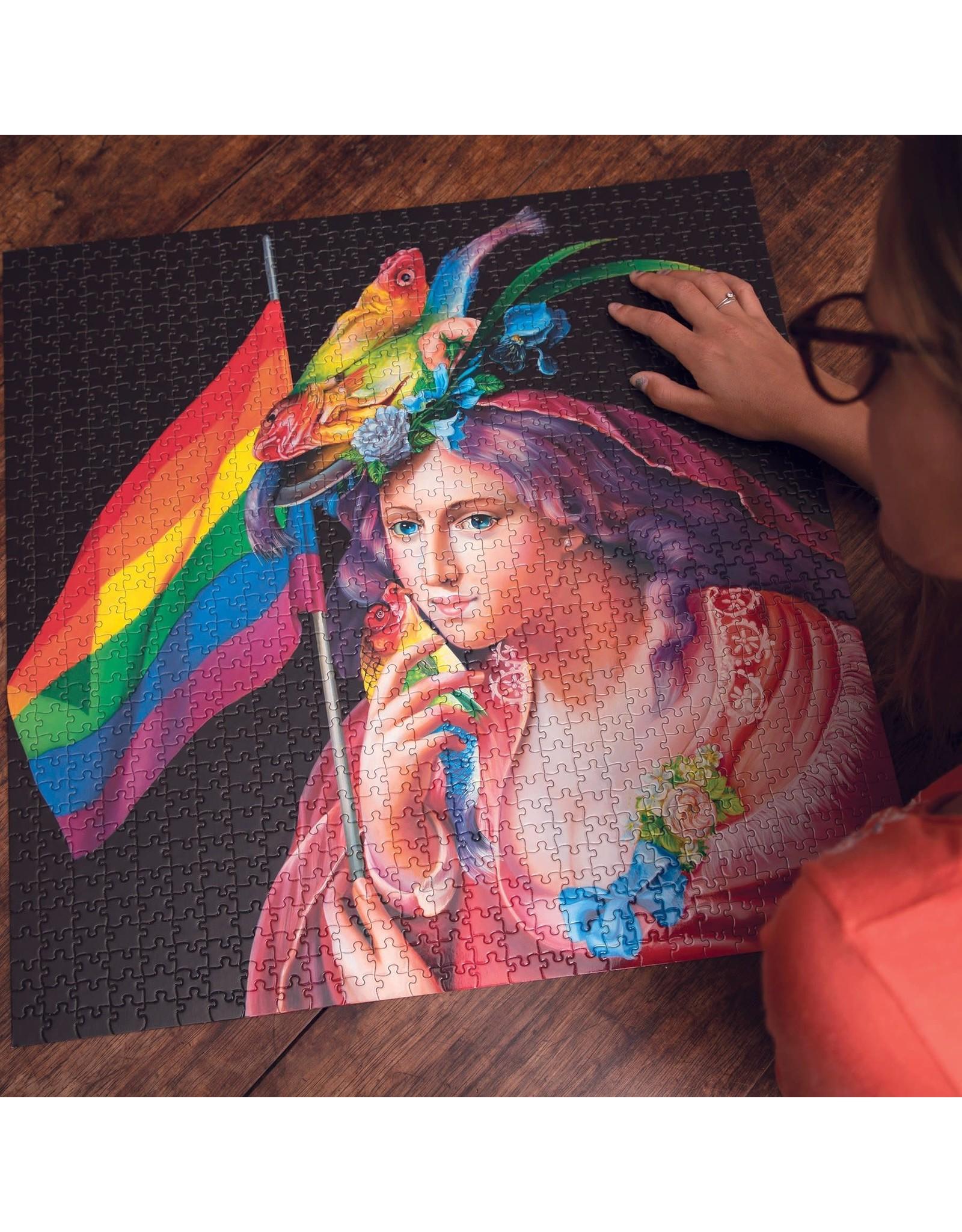 eeBoo Liberty Rainbow 1000pc Puzzle