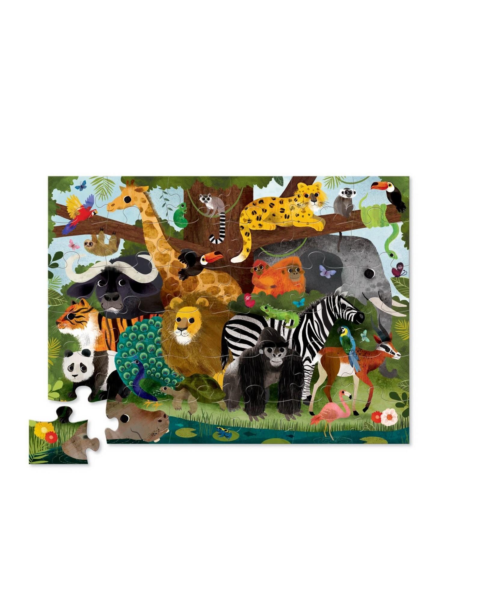 Crocodile Creek Jungle Friends 36pc Floor Puzzle
