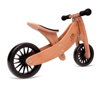 Kinderfeets 2 in 1 Tiny Tots PLUS Balance Bike bamboo