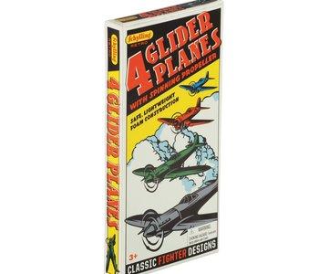 Retro Glider Plane 4pc