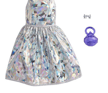 Barbie Complete Look Outfit - Silver Dress
