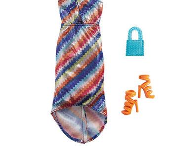Barbie Complete Looks Outfit - ZigZag Dress & Orange Pumps