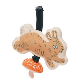 Manhattan Toy Button Bunny Pull Musical Take Along Toy
