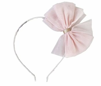 Whoa Bow Headband pink/grey