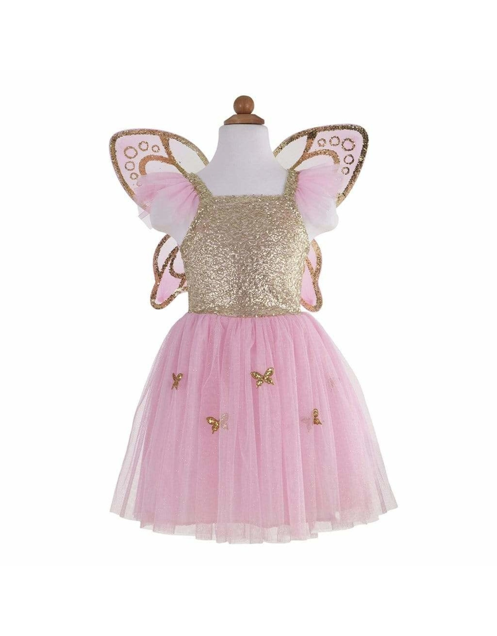 Great Pretenders Gold Butterfly Dress w Wings Ages 5-7