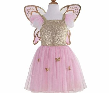 Gold Butterfly Dress w Wings Ages 5-7