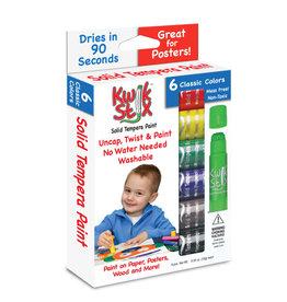 THE  PENCIL GRIP Kwik Stix Paint Sticks Classic 6pc