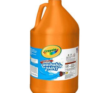 Crayola Washable Paint 3.79L Orange