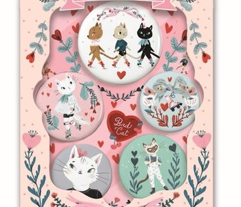 Lovely Badges Button Pins Cats