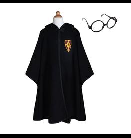 Great Pretenders Wizard Cloak w Glasses Ages 5-6