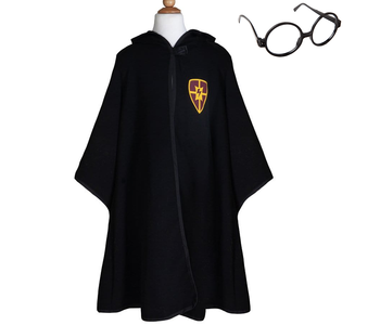 Wizard Cloak w Glasses Ages 5-6