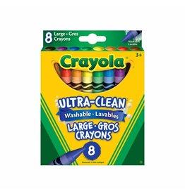 Crayola Ultra Clean Washable Lg Crayons 8pc