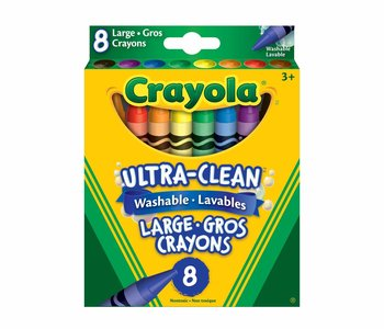 Ultra Clean Washable Lg Crayons 8pc