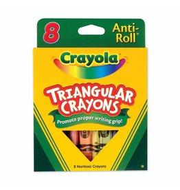 Crayola My First Crayola 8ct Triangular Anti-Roll Crayons