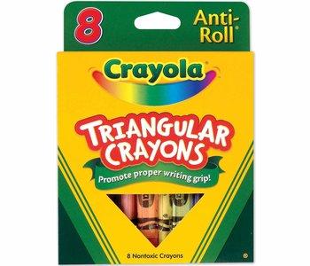 My First Crayola 8ct Triangular Anti-Roll Crayons