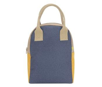 Navy Oat Mango Zipper Lunch Bag