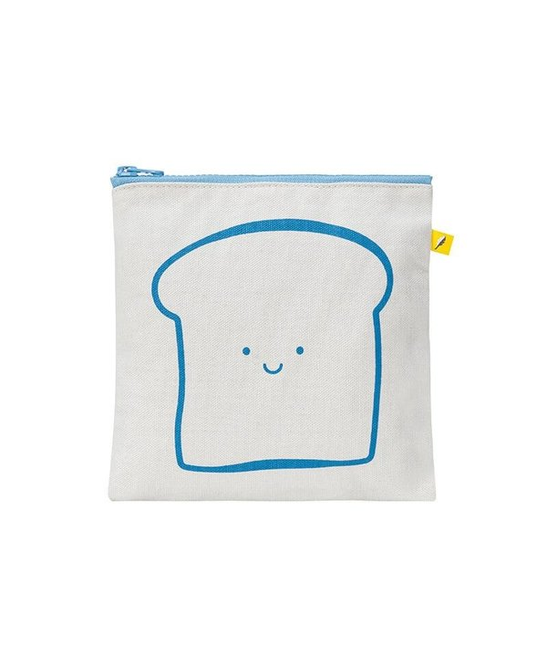 Zip Snack Sack Happy Bread blue