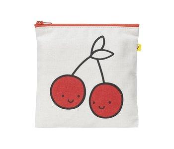 Zip Snack Sack Cherries red