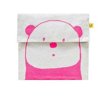 Flip Snack Sack pink panda