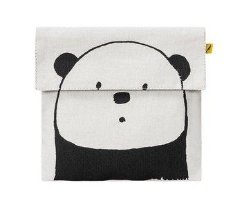 Flip Snack Sack panda black