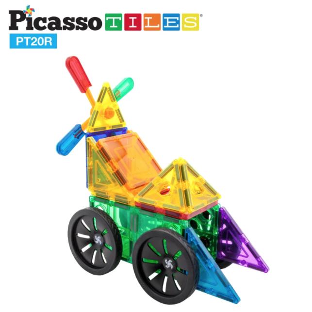 Picasso Tiles Windmill & Wheel 20pc Set
