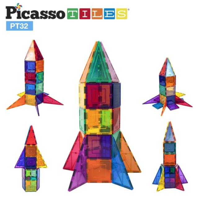 Picasso Tiles Rocket Booster Set 32pc