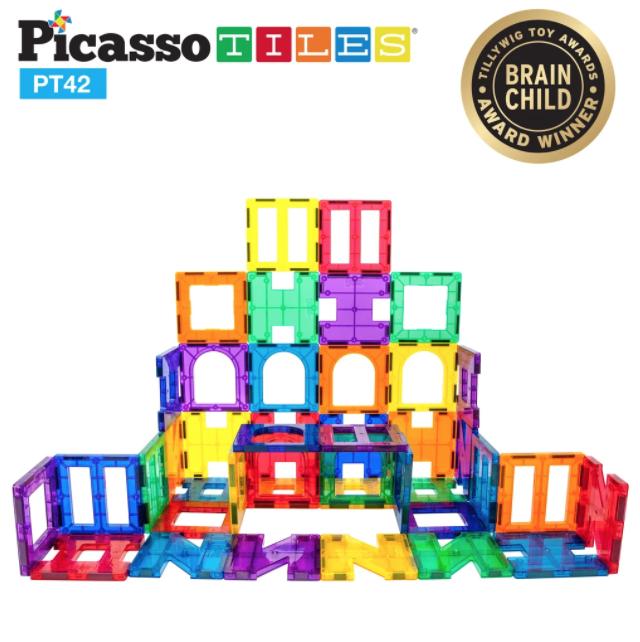 Picasso Tiles Design Artistry Magnetic Building 42pc Tiles Set