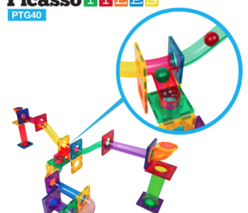 Picasso Tiles Magnetic Marble Run 40pc
