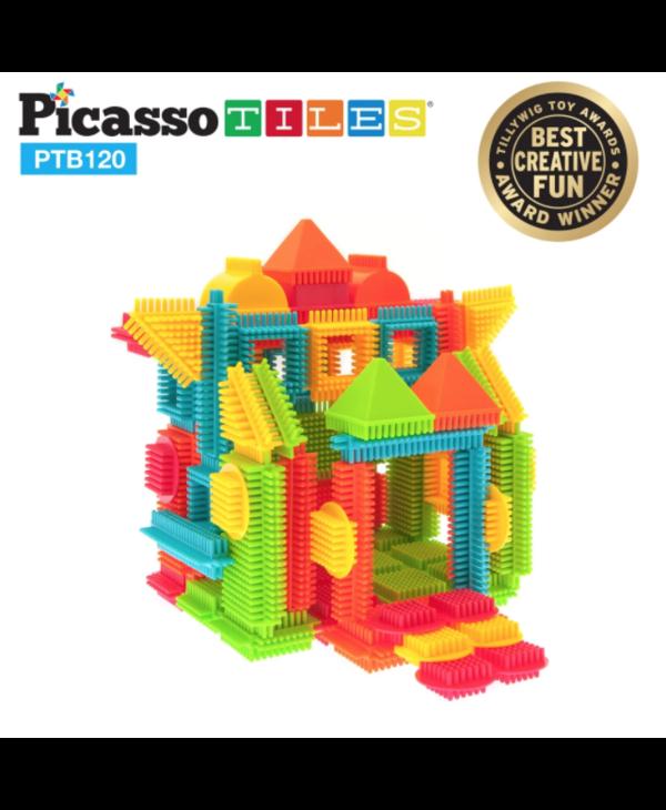 Picasso Tiles Bristle Shape 3D Building Blocks 120pc