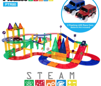 Picasso Tiles Racing Track Set 80pc