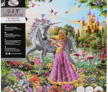 Crystal Art- The princess & The Unicorn