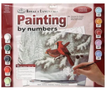 Paint By Number: Cardinals