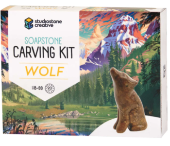 Soapstone Carving kit (WOLF)