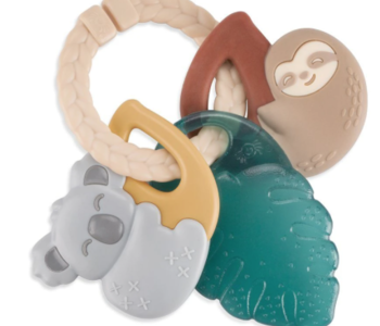 Tropical Itzy Keys Textured Ring w Teether + Rattle