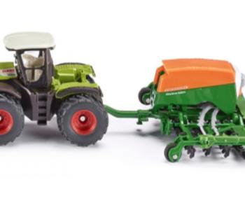 Siku Tractor with Amazone Cayena 6001 Seeder