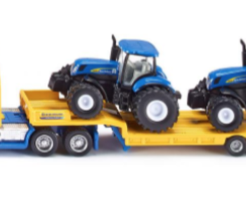 Siku New Holland Truck with Low Loader & Tractors